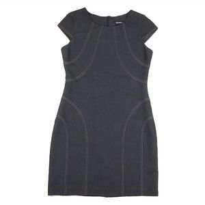 Ellen Tracy Dark denim shift dress size 10